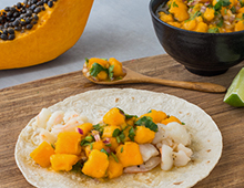 Prawn and Yellow Papaw Tacos