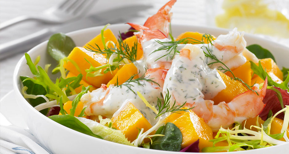 Yellow-Papaw-and-Prawn-Salad